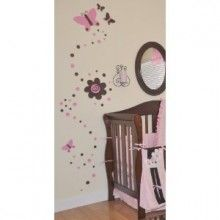 Pink and brown butterfly wall art