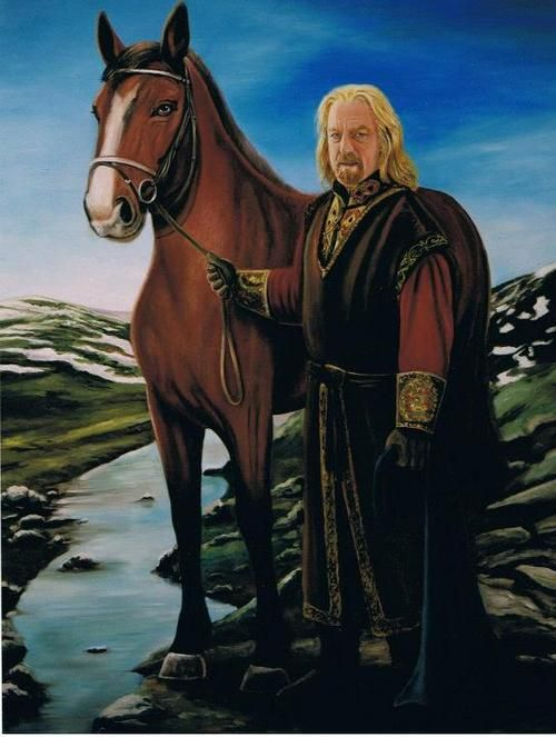 King Theoden by Estela Boal .