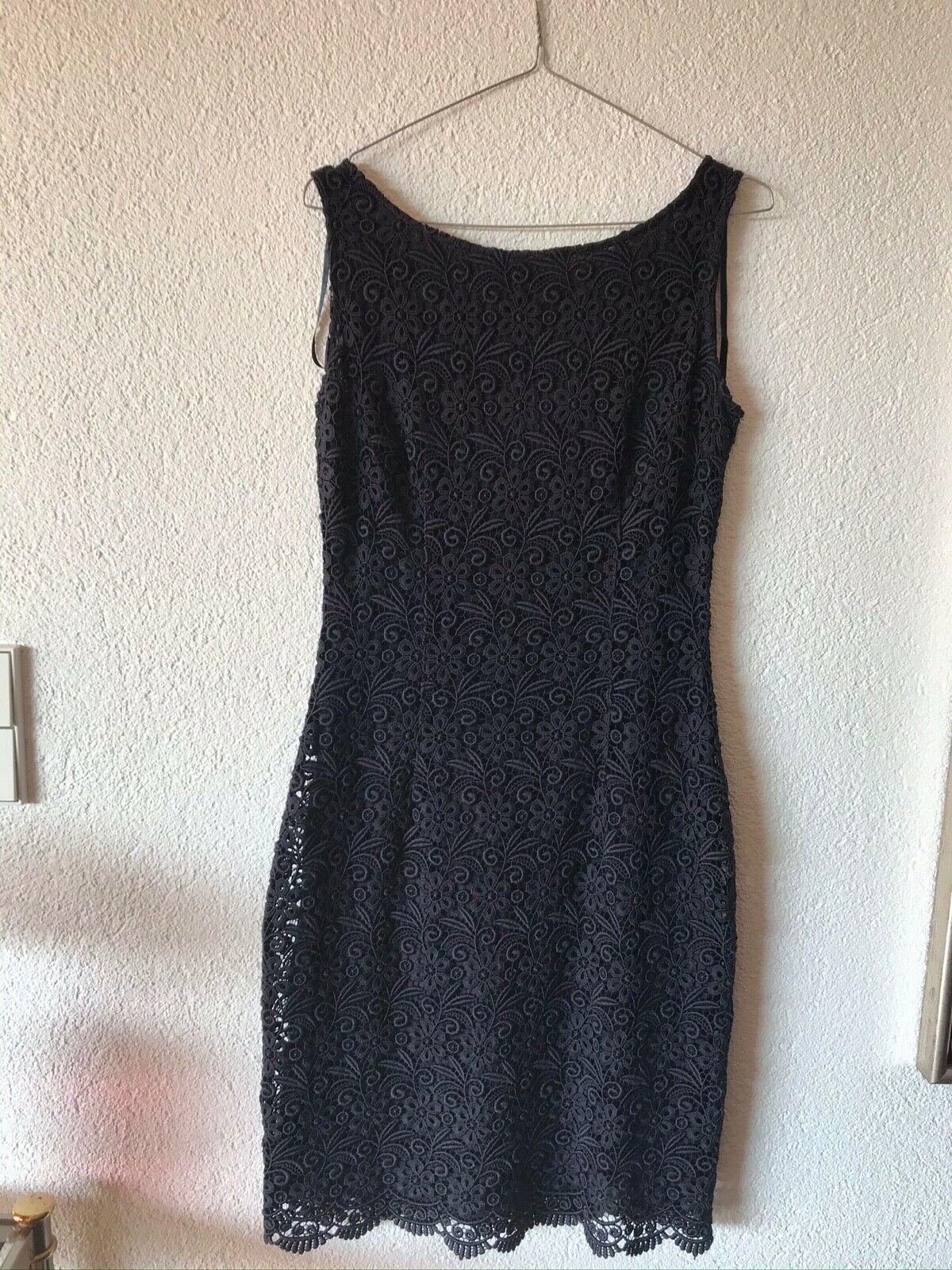 spitzen kleid von s. oliver collectionnavyblau für festliche