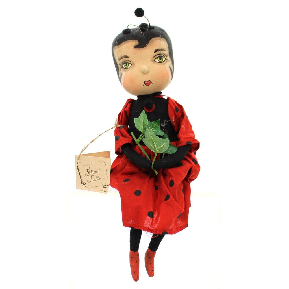 Joe Spencer CHERRY LADYBUG GIRL DOLL Fabric Garden Doll Fgs70952 #JoeSpencer