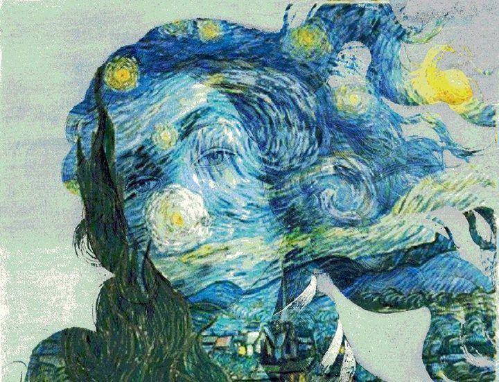 La Venus De La Noche Estrellada Arte Contemporaneo Arte De Collage Obras De Arte