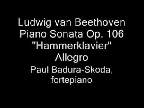 Paul Badura-Skoda - Beethoven Hammerklavier, fortepiano (1/6)