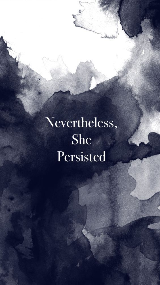 Elizabeth Warren. Nevertheless, she persisted. Carl Jung