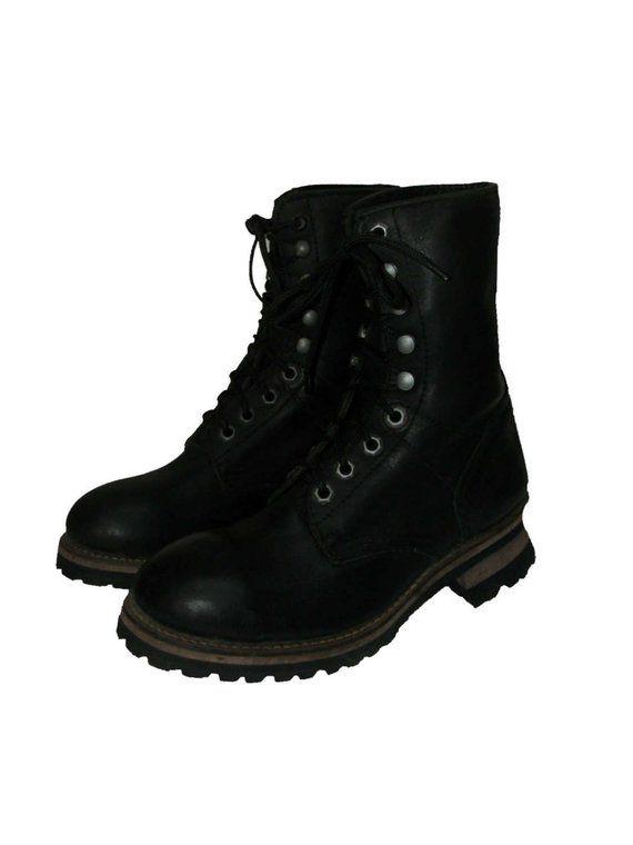 8f8f2c93609ec NA NA Logger Boots Vintage Mens 1980s Black Leather Boho Grunge Work ...