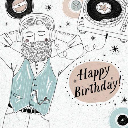Andrew Smith Happy Birthday Hipster Vinyl Male Andrew Smith Birthday Greeting Cards Birthday Cards Diy Birthday Images