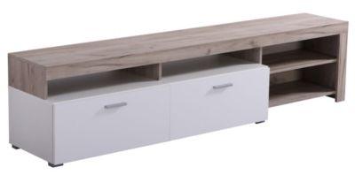 ee372b2d0e8 Mobilier - Salons et Séjours - Meubles Tv - Meuble TV FIONA Bois gris et  blanc