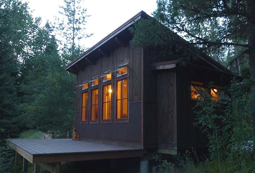 Built This Shed Roof Cabin And Placed It On Customers