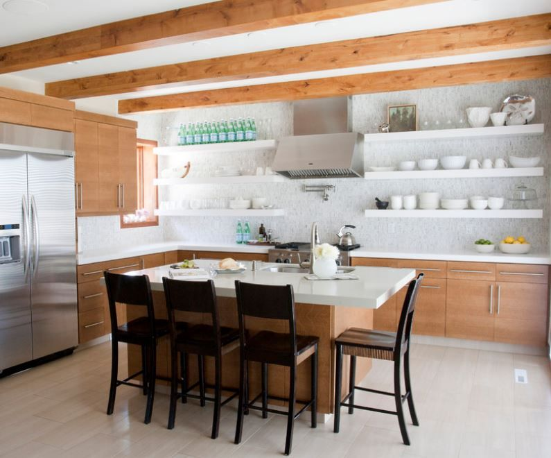10 Sparkling Kitchens With Open Shelving Kitchen Remodel Small