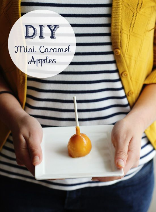 DIY mini caramel apples | At Home in Love #milk