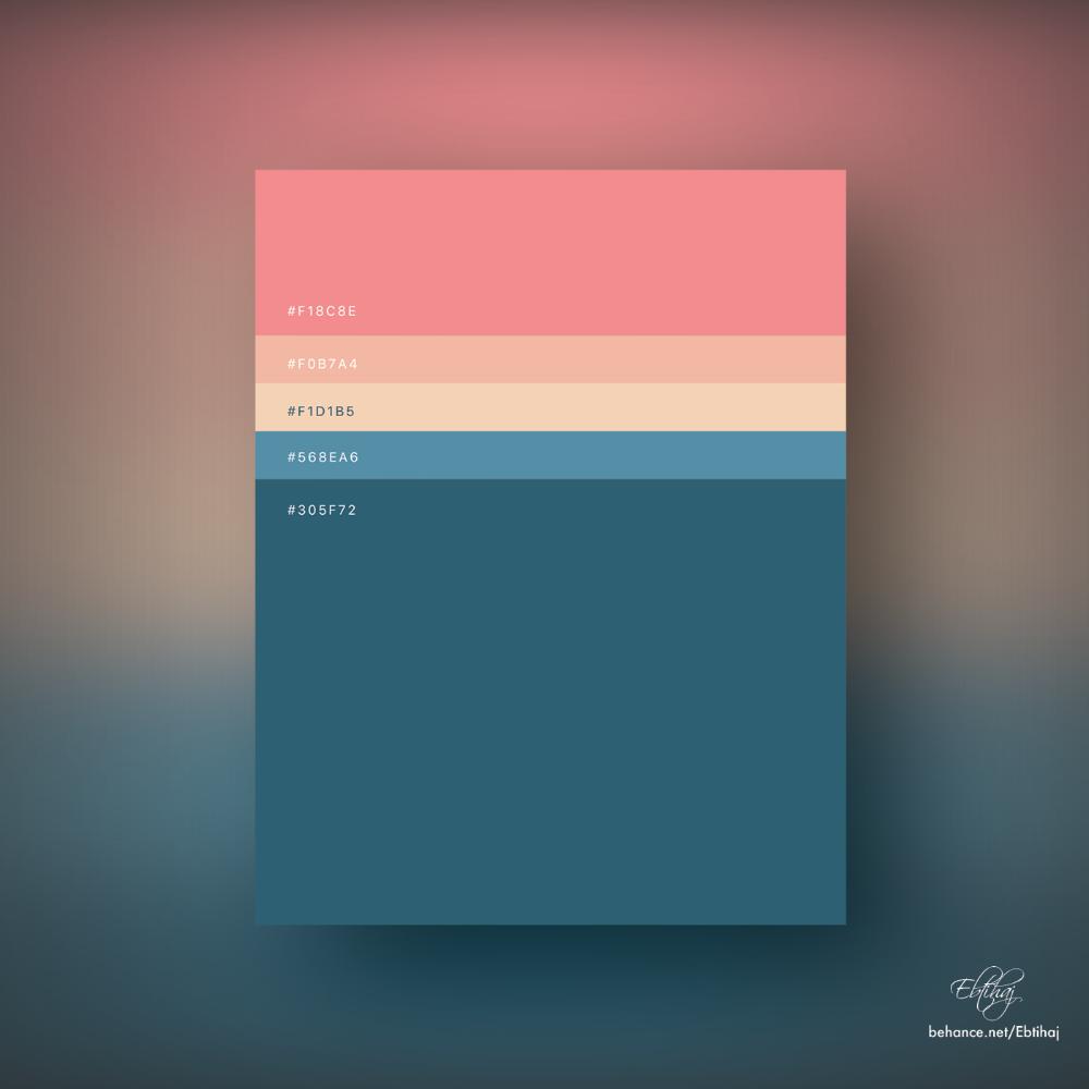 Minimalist Color Palettes 2018 In 2020 Flat Color Palette Colour Palette 2018 Web Design Color