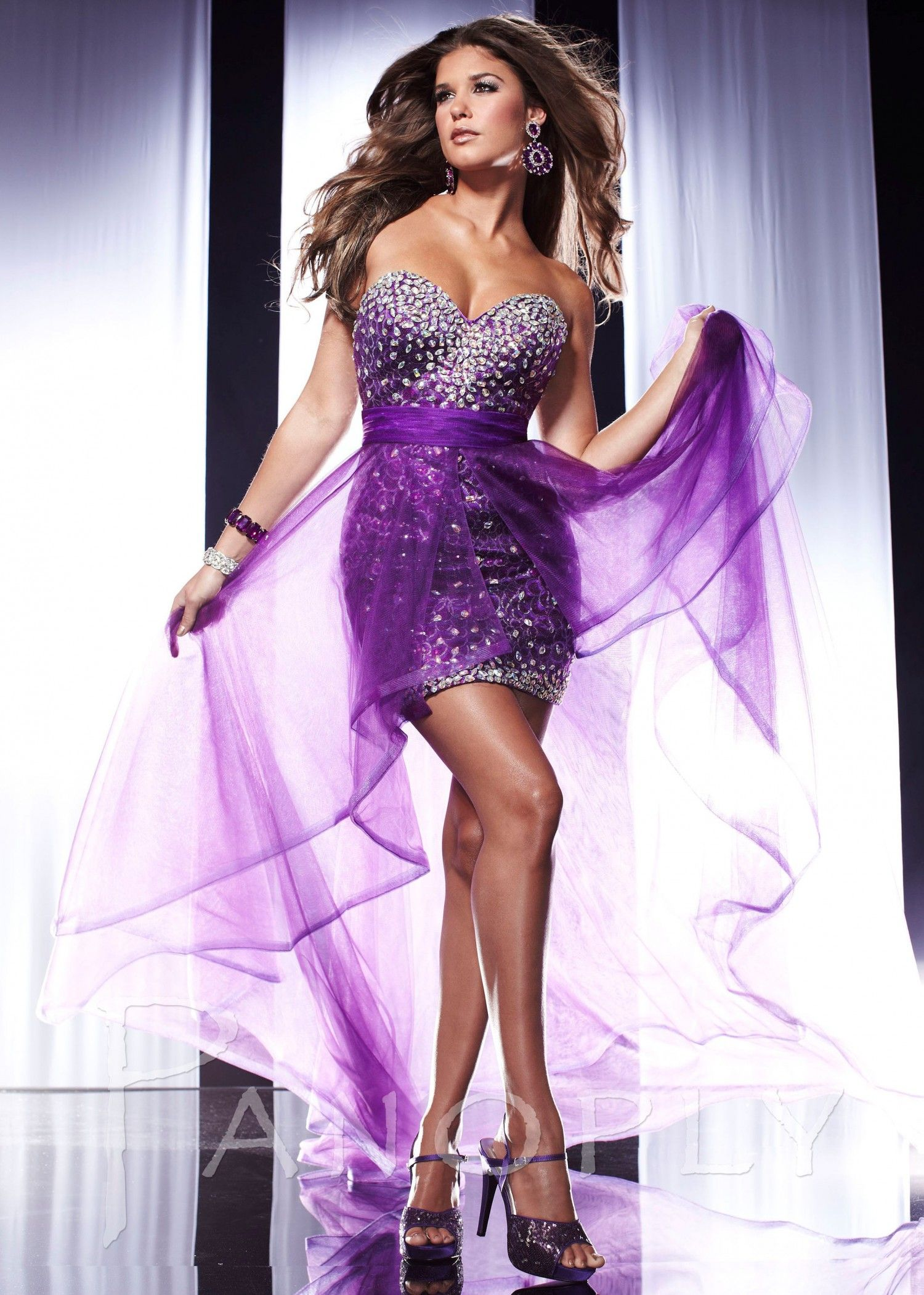 short purple prom dress | prom dresses | Pinterest | Modelo