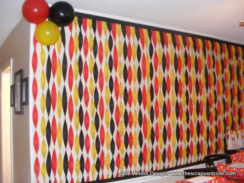 Party Decorating Ideas With Streamers never thought of covering the ends with another streamer! makes it