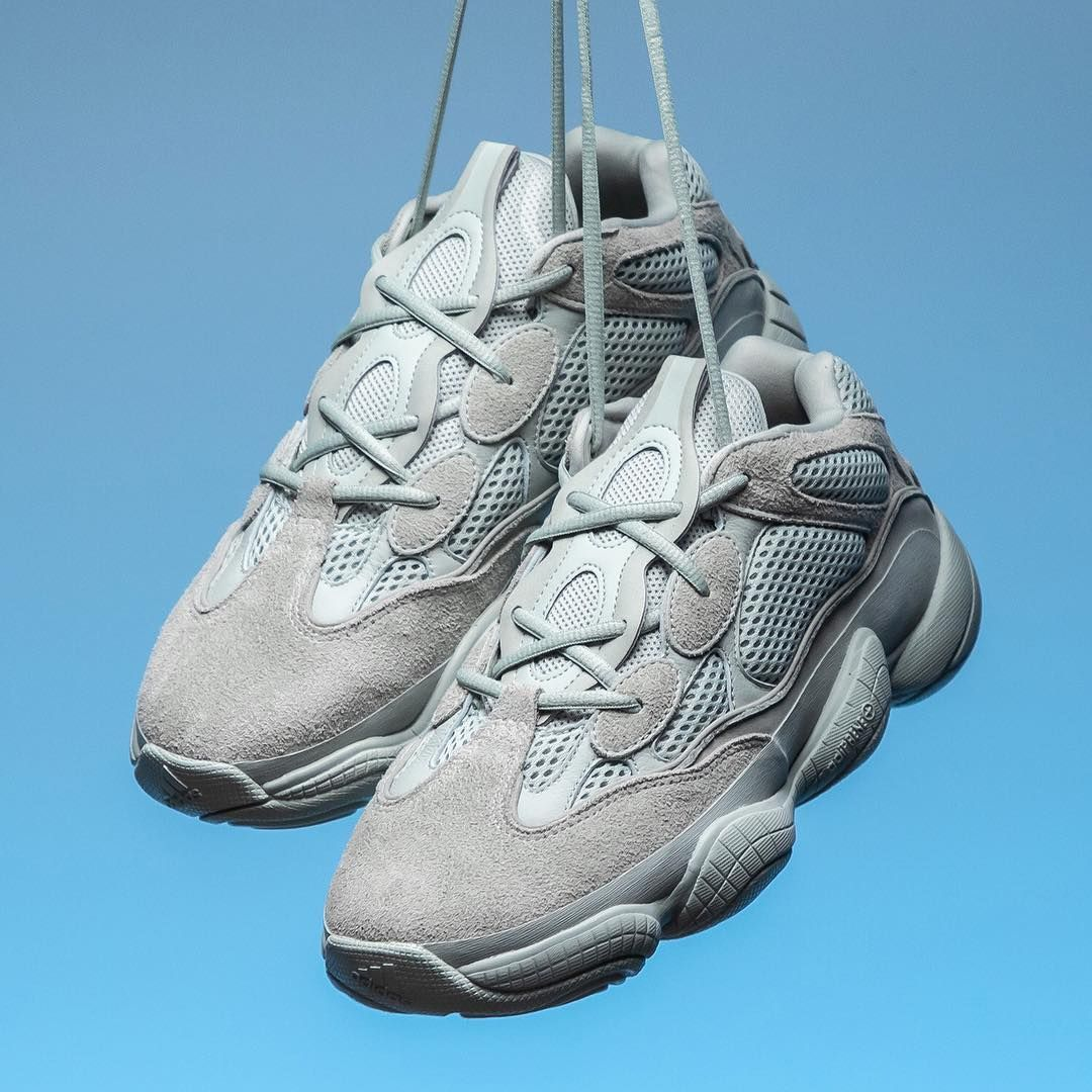 "983ba9cbfcaa5 The next colorway of Kanye West s adidas Yeezy 500 is coming soon. What do  you think of this grey ""Salt"" edition  For a detailed first…"