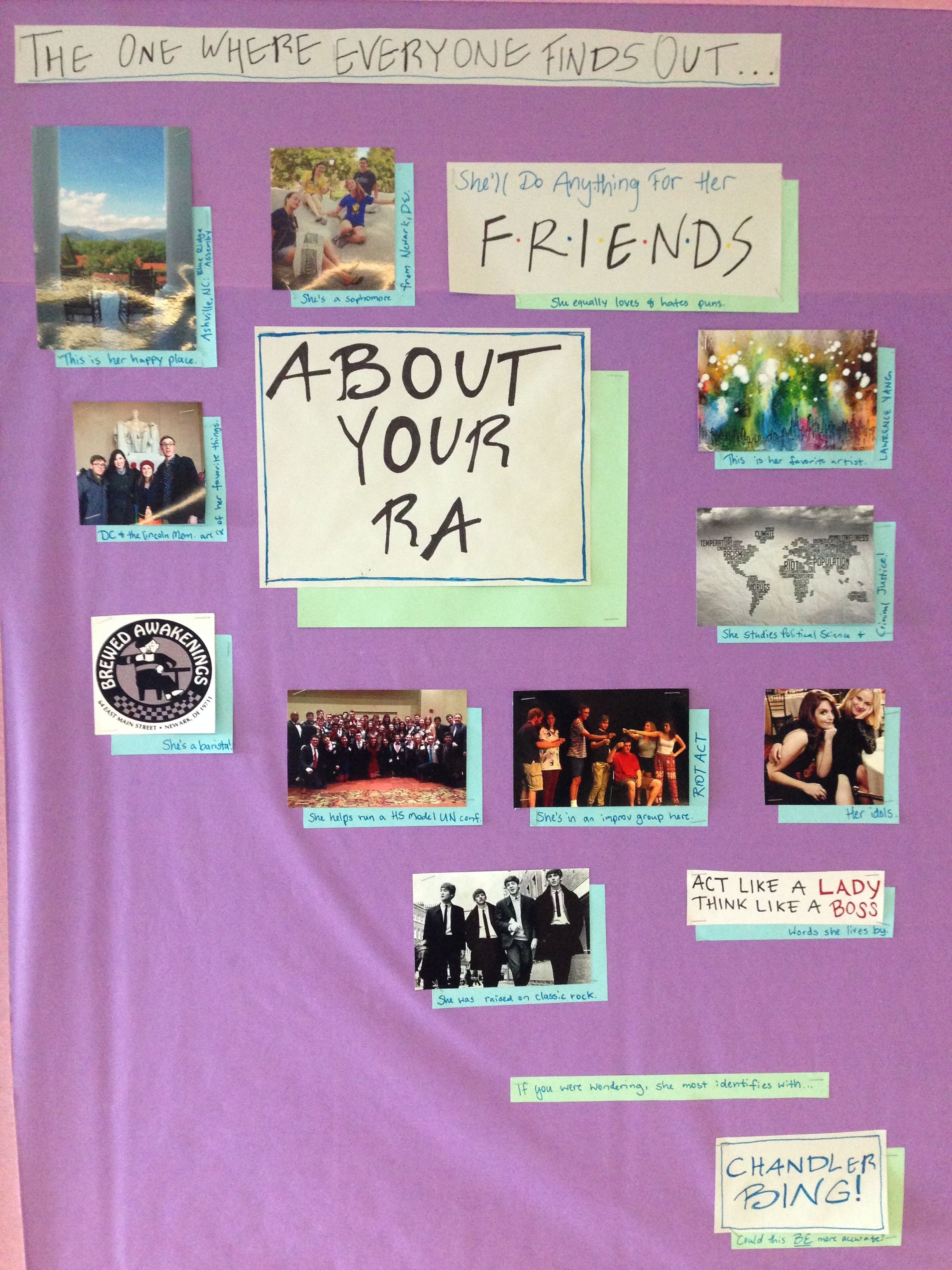 The One Where You Find Out  About Your Ra Bulletin Board