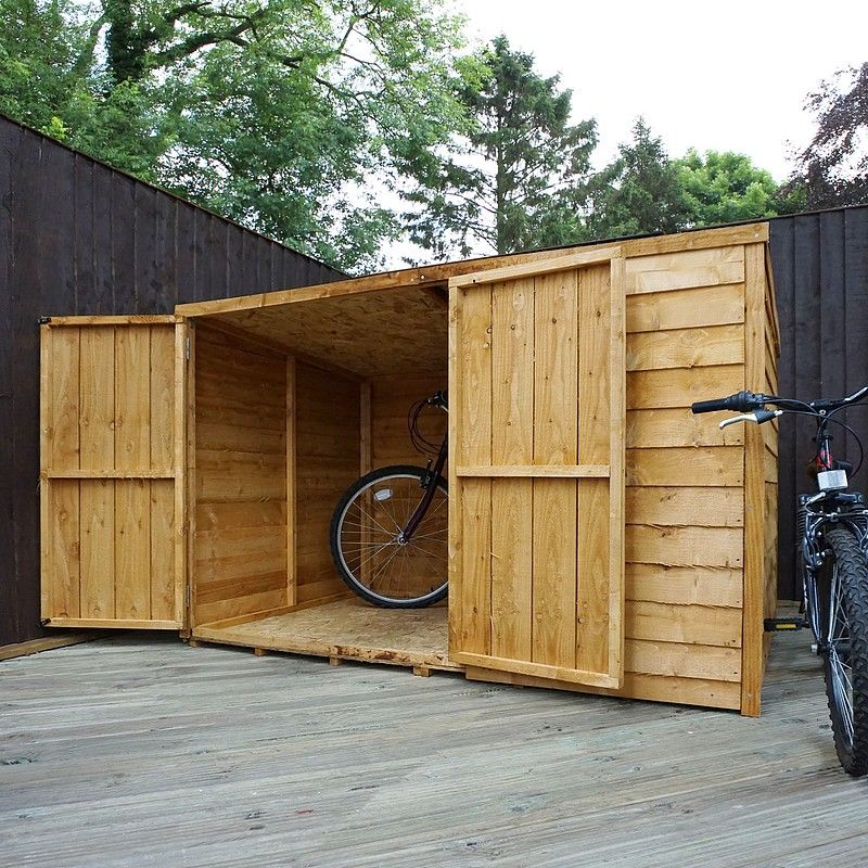 Waltons 4 X 6 Overlap Double Door Pent Bike Store Bike Shed Garden Storage Buy Shed