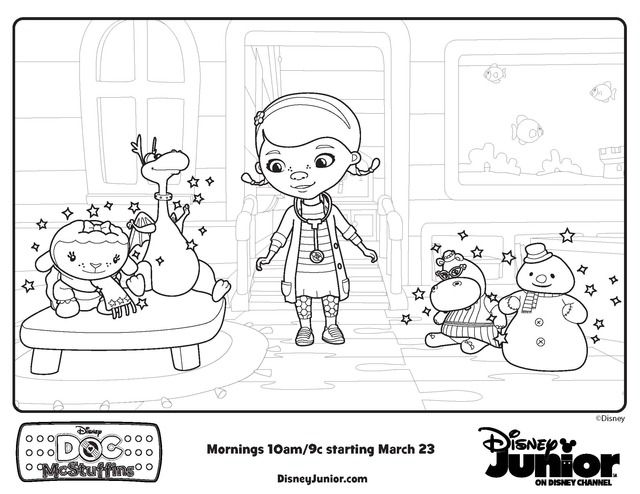 Doc McStuffins stars  Free Printable Coloring Pages  Doc