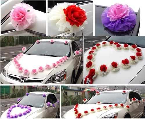 New Wedding Car Decoration Kit With Balloons 3 Color Ebay