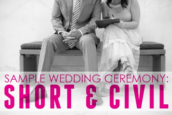 Civil Ceremony On Pinterest