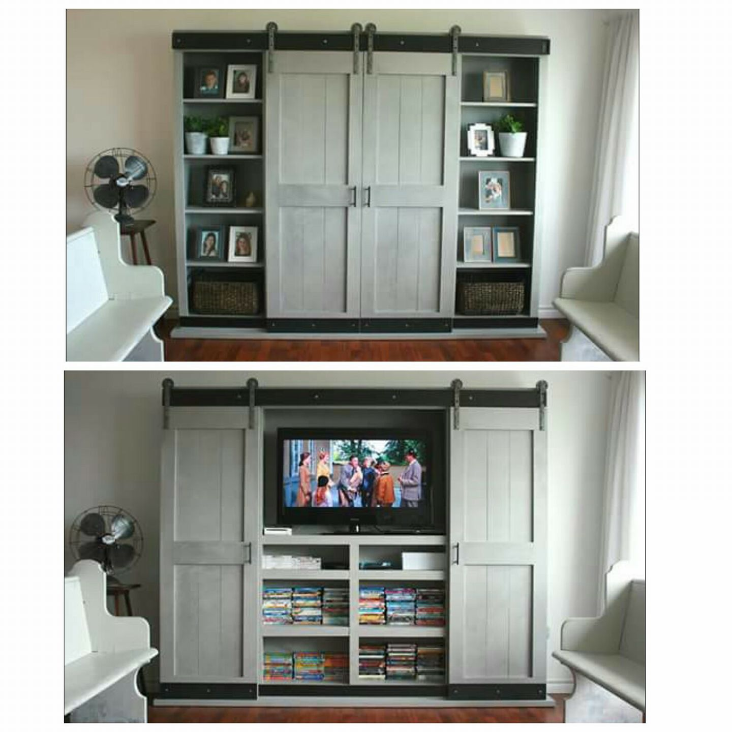 Ana White Sliding Door for TV DIY Projects