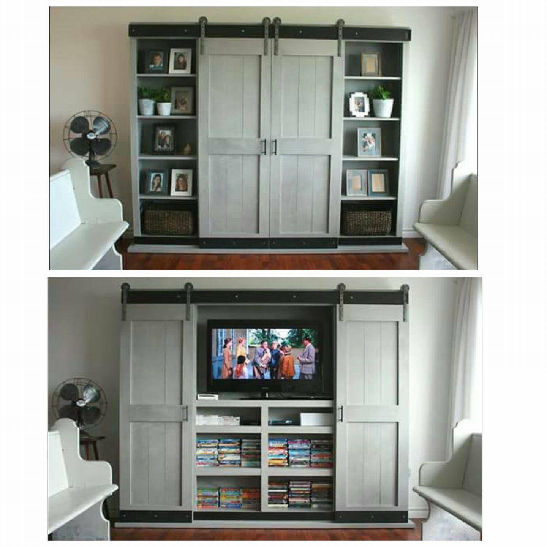Best Sliding Door Cabinet For Tv Ana White Entertainment 400 x 300