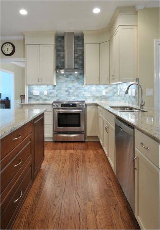 Beautiful Adding Twhite Trim To Kitchen Soffit To Creat Illision Of Taller Cabinets U0026  Also Hiding The