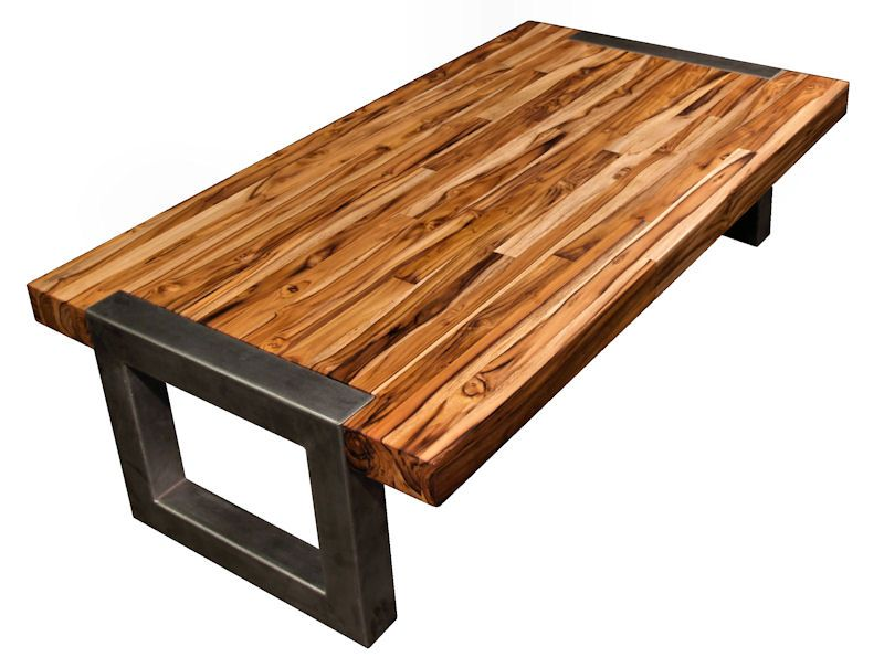 Coffee Table Tobara Teak Metal Table Base Custom Coffee Table