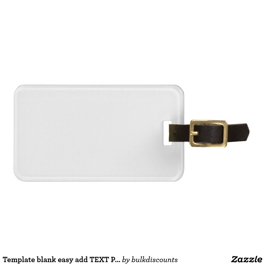 Template blank easy add TEXT PHOTO JPG IMAGE FUN Luggage Tag | 1 ...