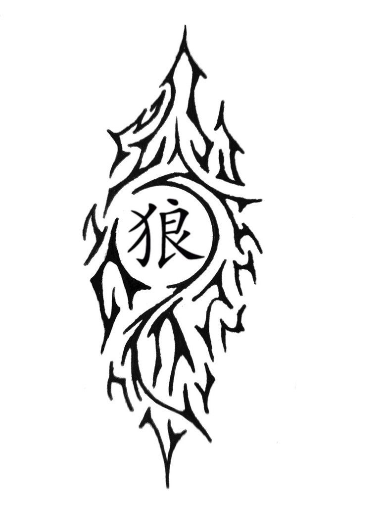 Chinese Wolf Symbol Would Look Good Red Or Blue Wolfwolves