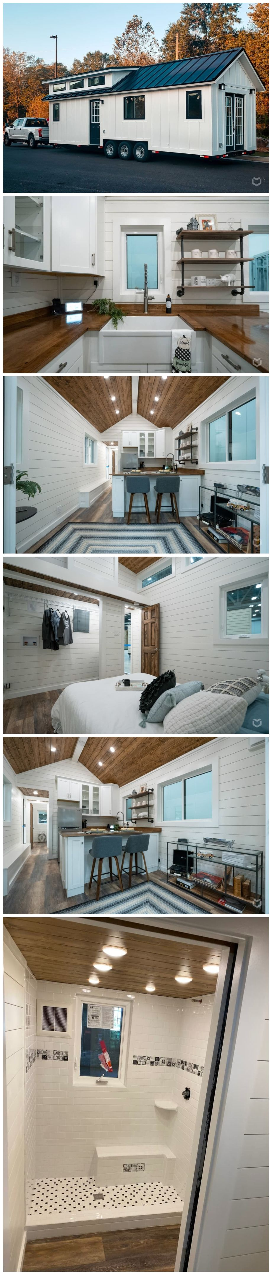 Photo of Main Floor Sleeping!! Beautiful 32′ x 10′ tiny house