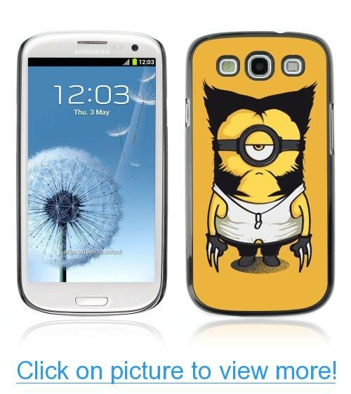 ArtCases ARTCASES CollectionsTM Black Hard Back Case for Samsung Galaxy S3 III i9300 ( Wolverine Minion )