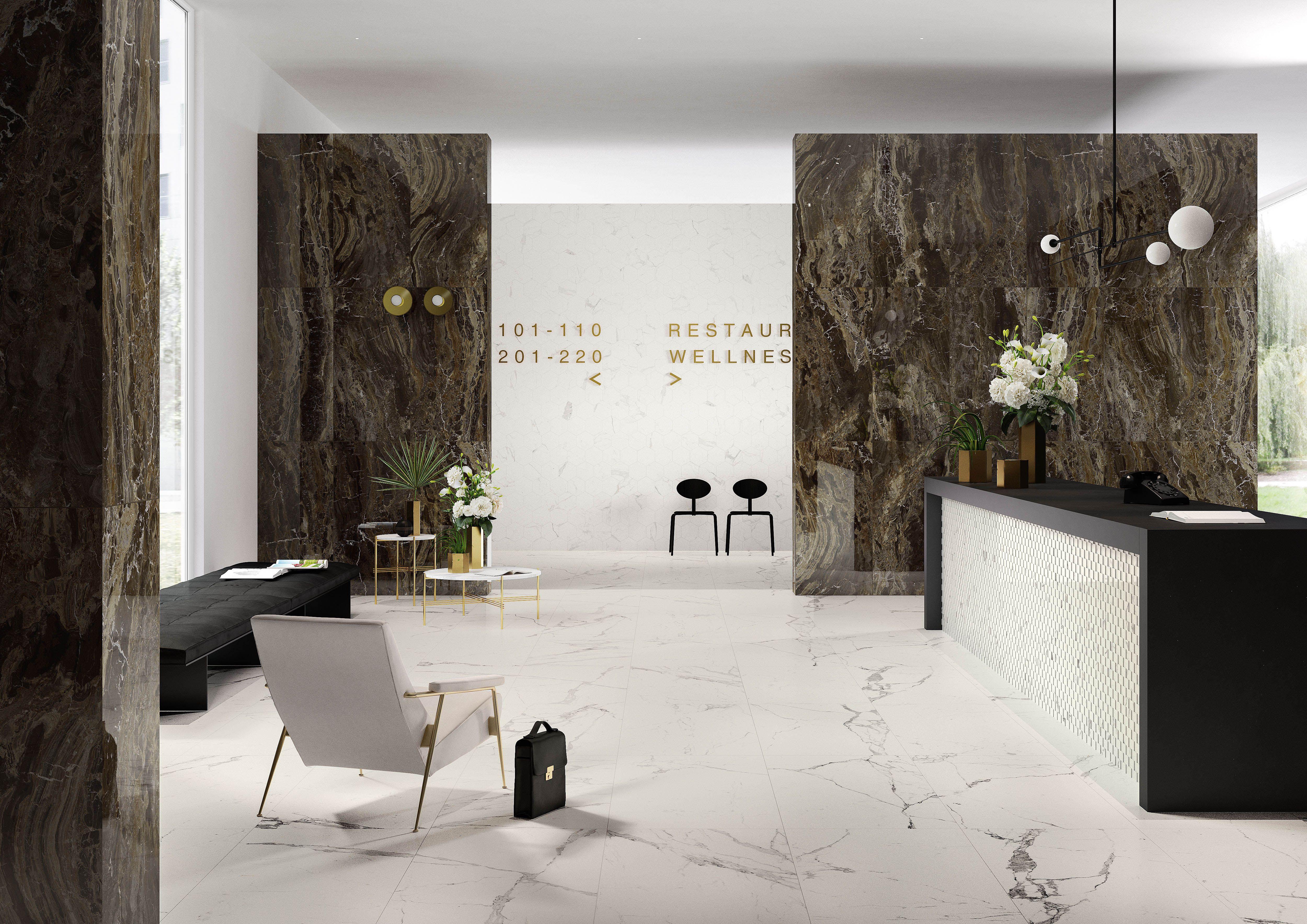 Allmarble gr s c rame effet marbre marazzi mat riaux for Carrelage italien marazzi