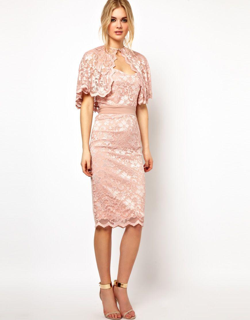 15 Blush Bridesmaid Dresses Under 250 Tempest Max Lace Dress With Cape