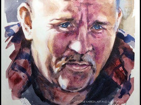 Watercolor Portrait Sketch Painting Demo By Ch Karron Portrait