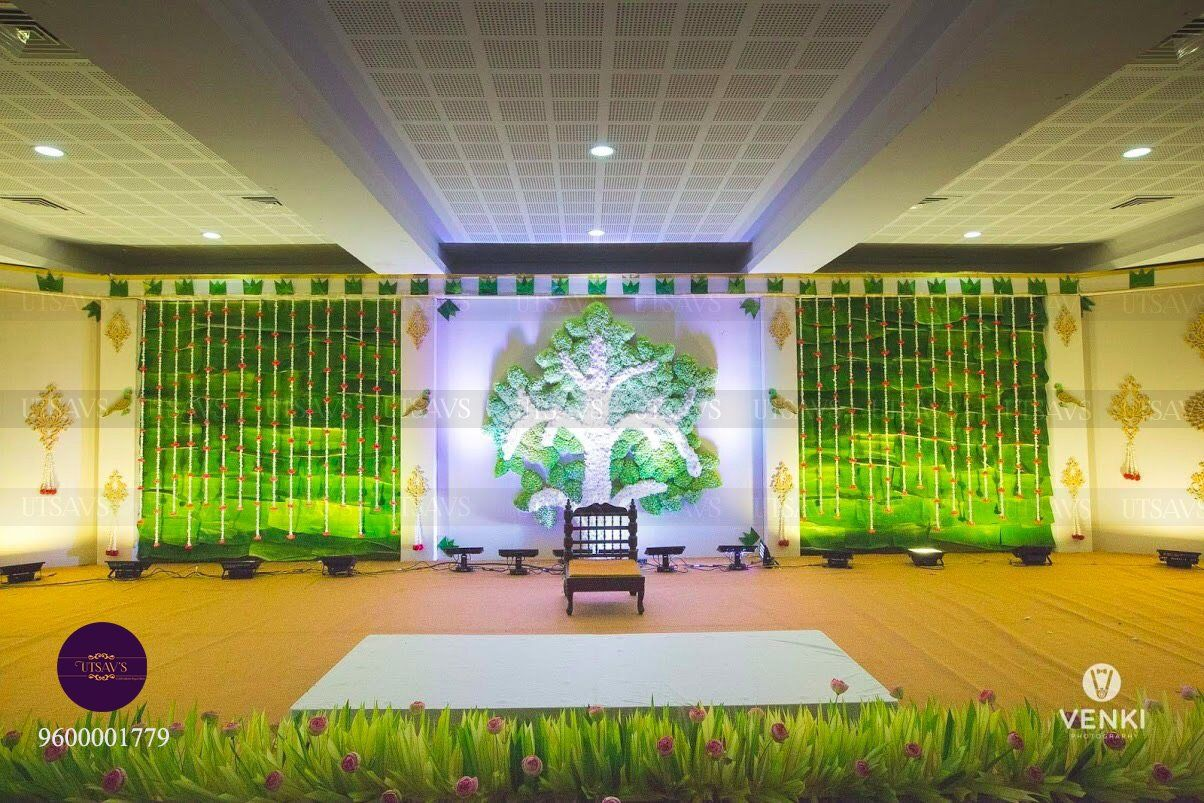 Day wedding stage decoration   Engagement Decor Ideas To Celebrate The Day In Sheer Style