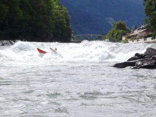 Isel - Osttirol / Österreich Bei gutem Wasserstand starke Wasserwucht;-)