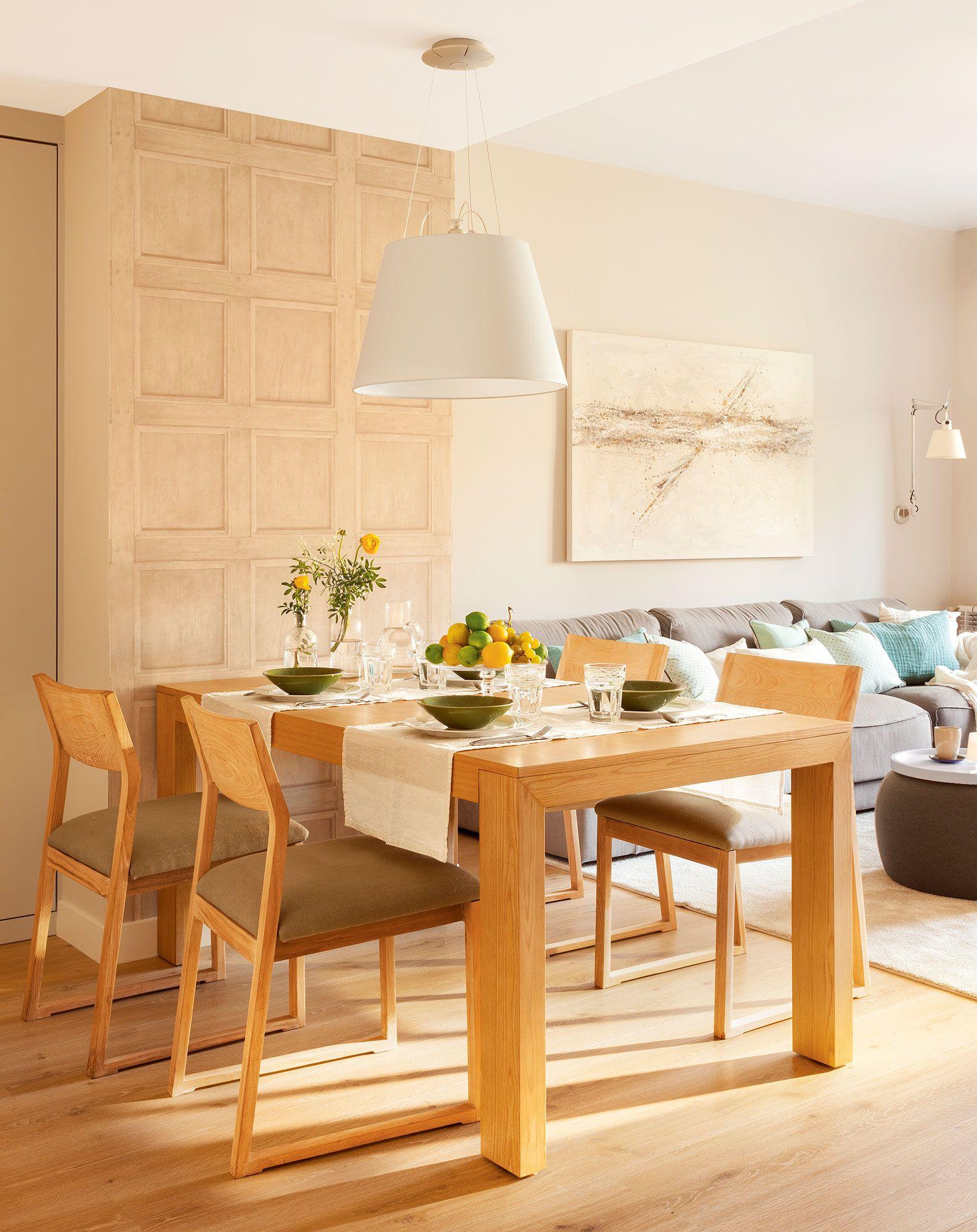 De líneas rectas. | Diningrooms... | Comedor para espacios pequeños ...