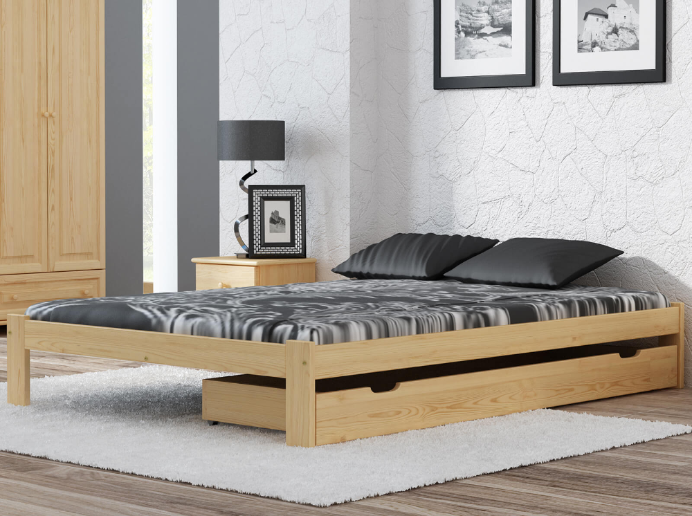Lozko Drewniane Irys 160x200 Nielakierowane Cena 239zl Sklep Magnat In 2020 Bed Furniture Bedroom Furniture