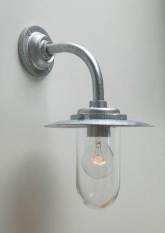 Galvanised Well Glass Outdoor Light Industrial Light Fixtures Exterior Lighting Cottage Lighting