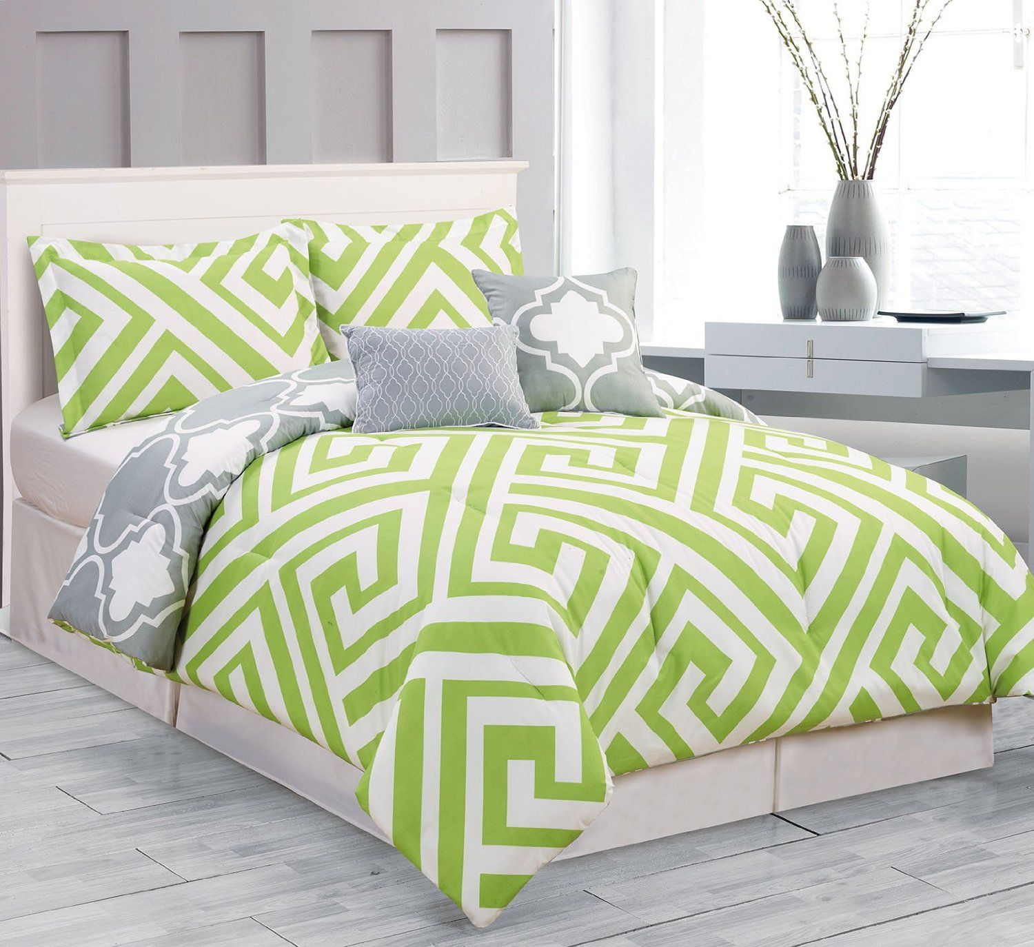 Best Lime Green And Grey Bedding Lime Green Bedrooms Green 640 x 480