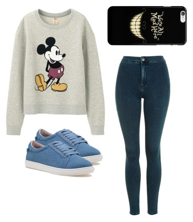 """""""Untitled #5"""" by michaelasoucy on Polyvore featuring Uniqlo, Topshop and J/Slides"""