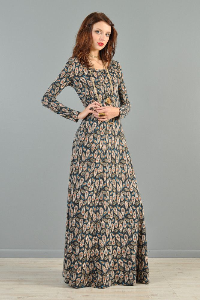 Diane Von Furstenberg 1970s Paisley Maxi Dress | BUSTOWN MODERN #vintage #dress #dvf