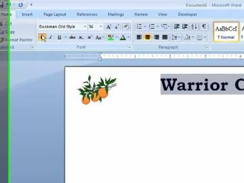 Word - How to Create Letterhead in a Word Documentmp4 Computer - copy how to make a letter format on microsoft word 2007