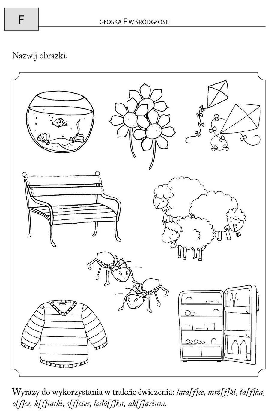 Clippedonissuu From Obrazkowe Cwiczenia Logopedyczne Dla Przedszkolakow Kindergarten Sketchnotes Lettering