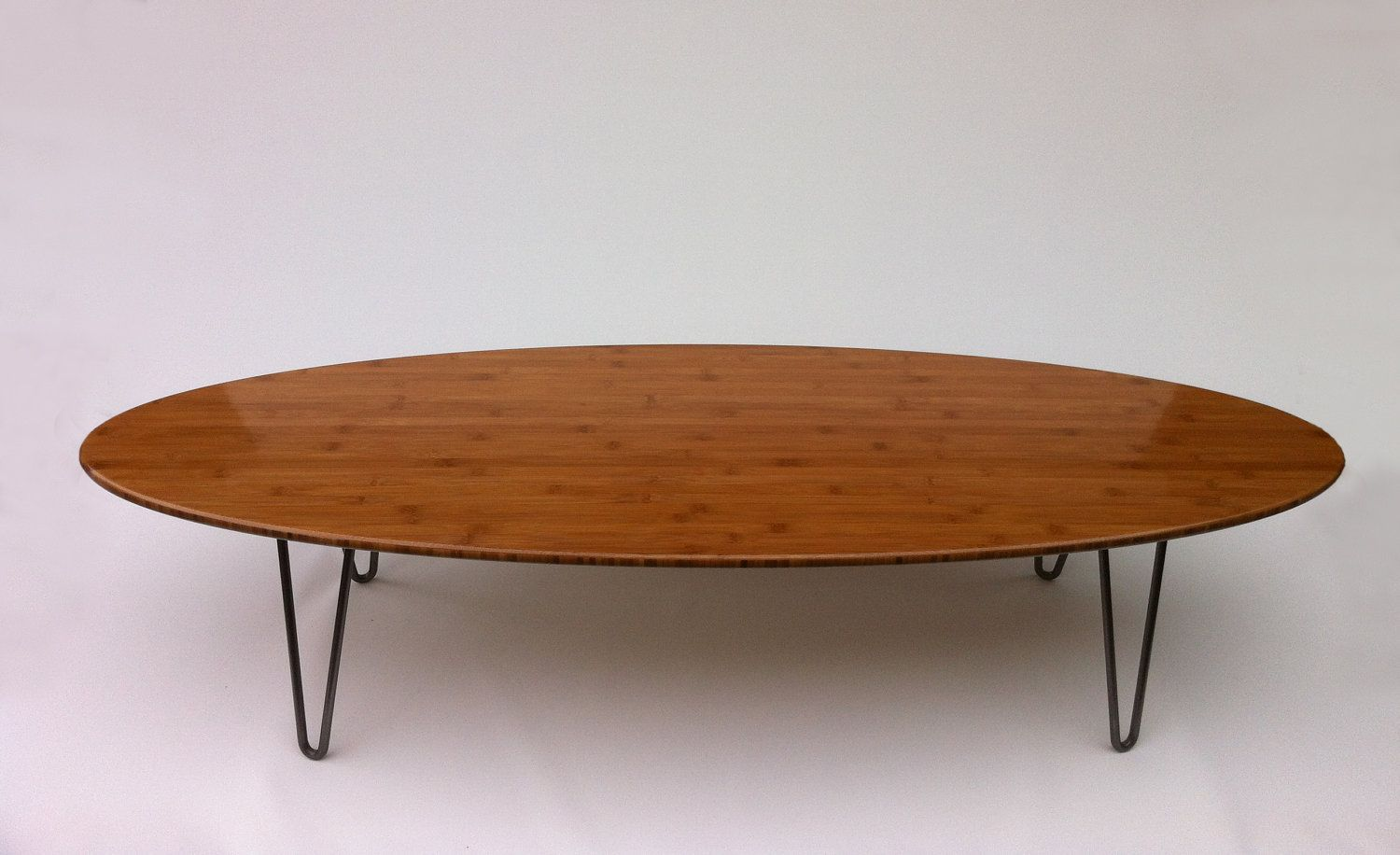 47 Elliptical Mid Century Modern Coffee Table Hairpin Legs Eames Proportion Mid Century Modern Coffee Table Mid Century Coffee Table Surfboard Coffee Table