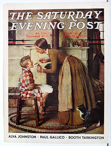 Original Antique Norman Rockwell Saturday Evening Post Cover for Sale