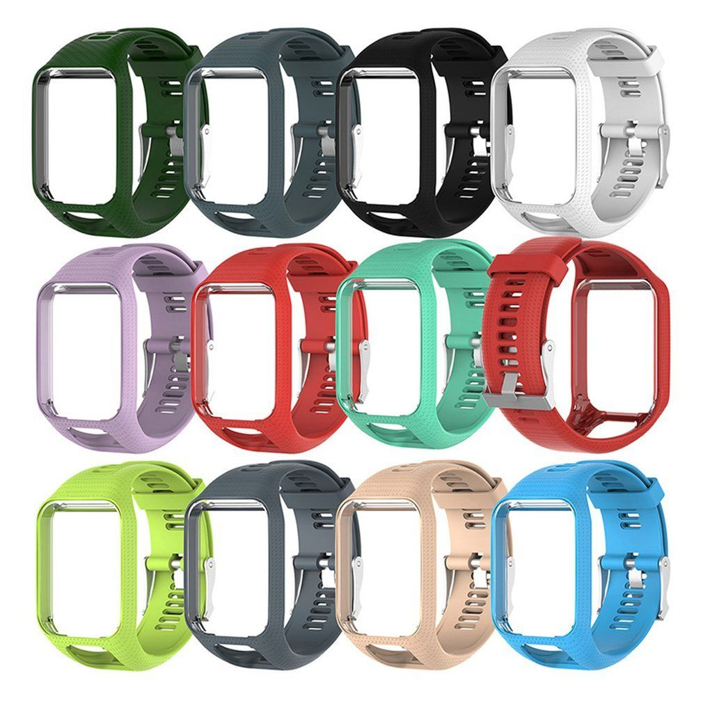 Silicone Replacement Watchband For Tom Tom 2 3 Series Watch Strap