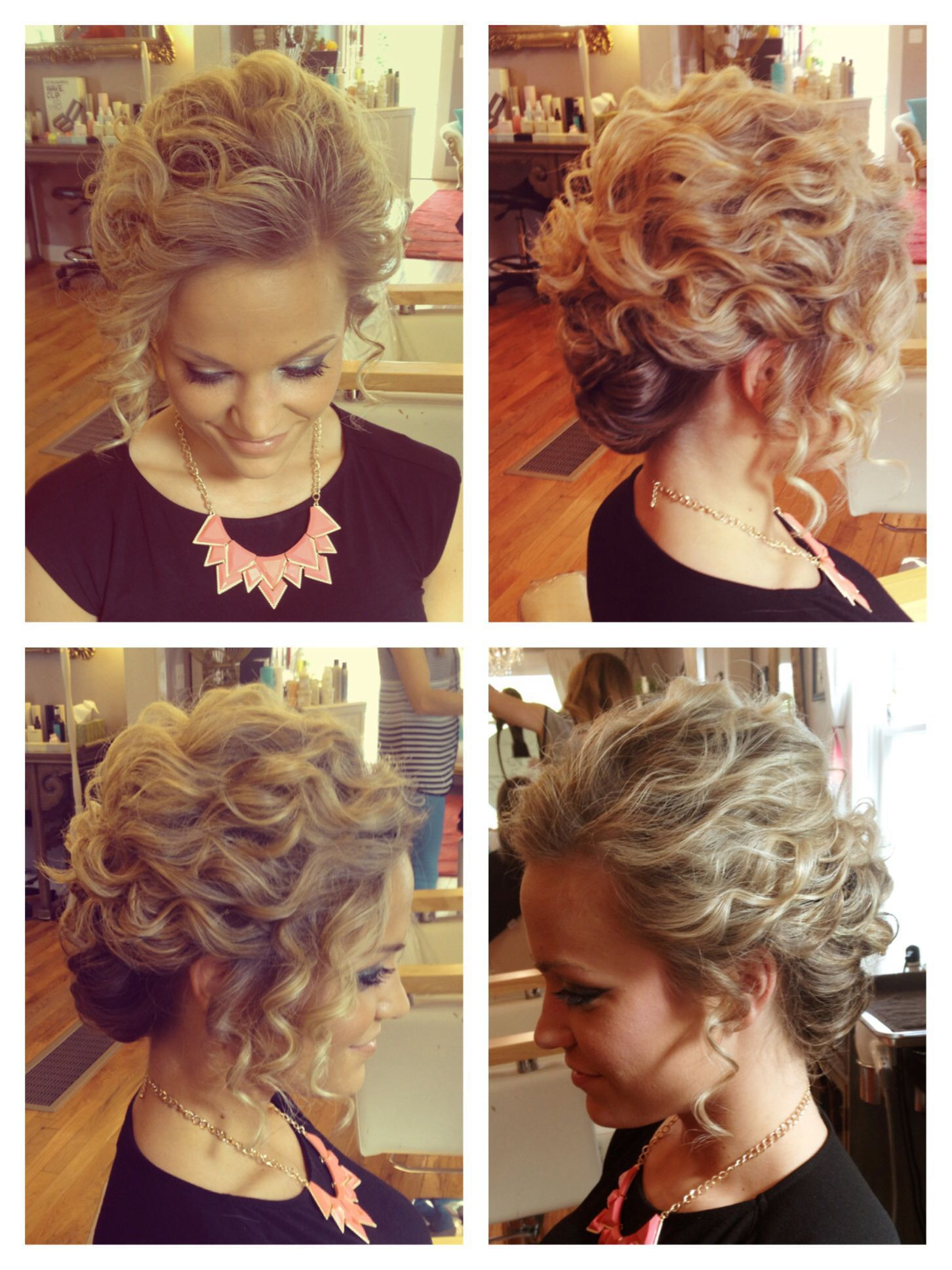 Kurzhaar Prom Frisuren für kurze lockige Haare #Prom #Frisuren