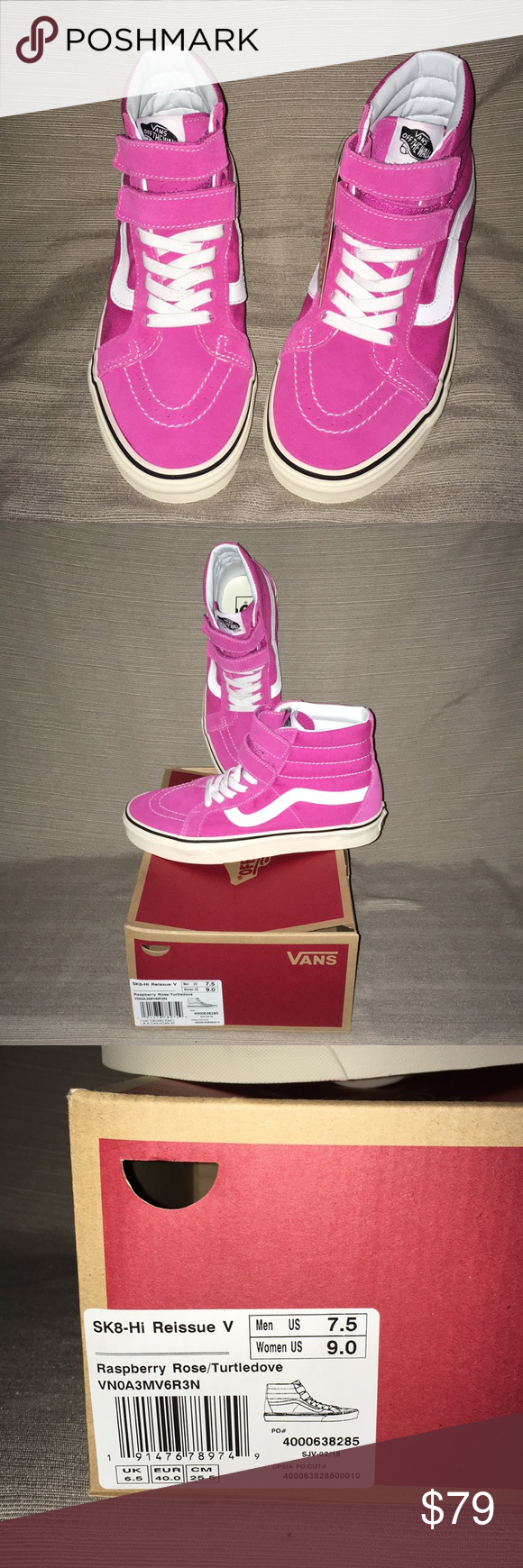 931fc00c0dfe80 VANS sz 9 W 7.5 M SK8-Hi Raspberry high top shoes New with tags and box vans  hot pink called Raspberry rose and turtledove colors.