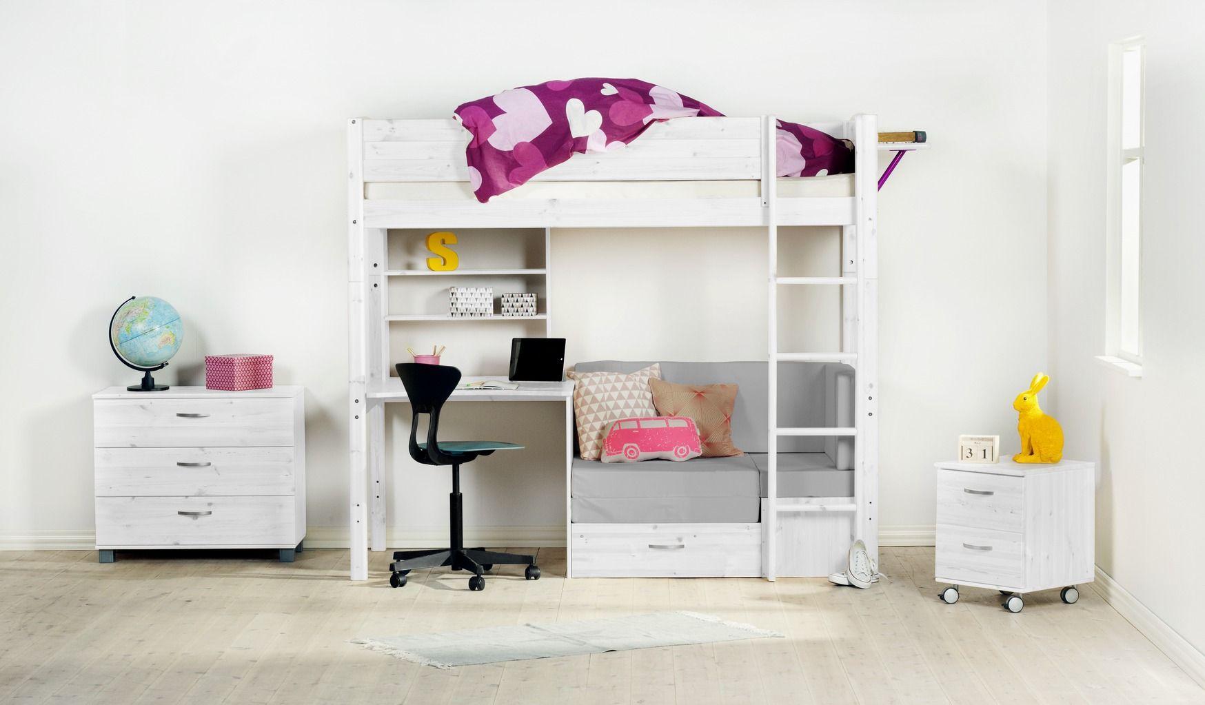 Waanzinnige loft met hoogslaper en inloopkast cribs cots