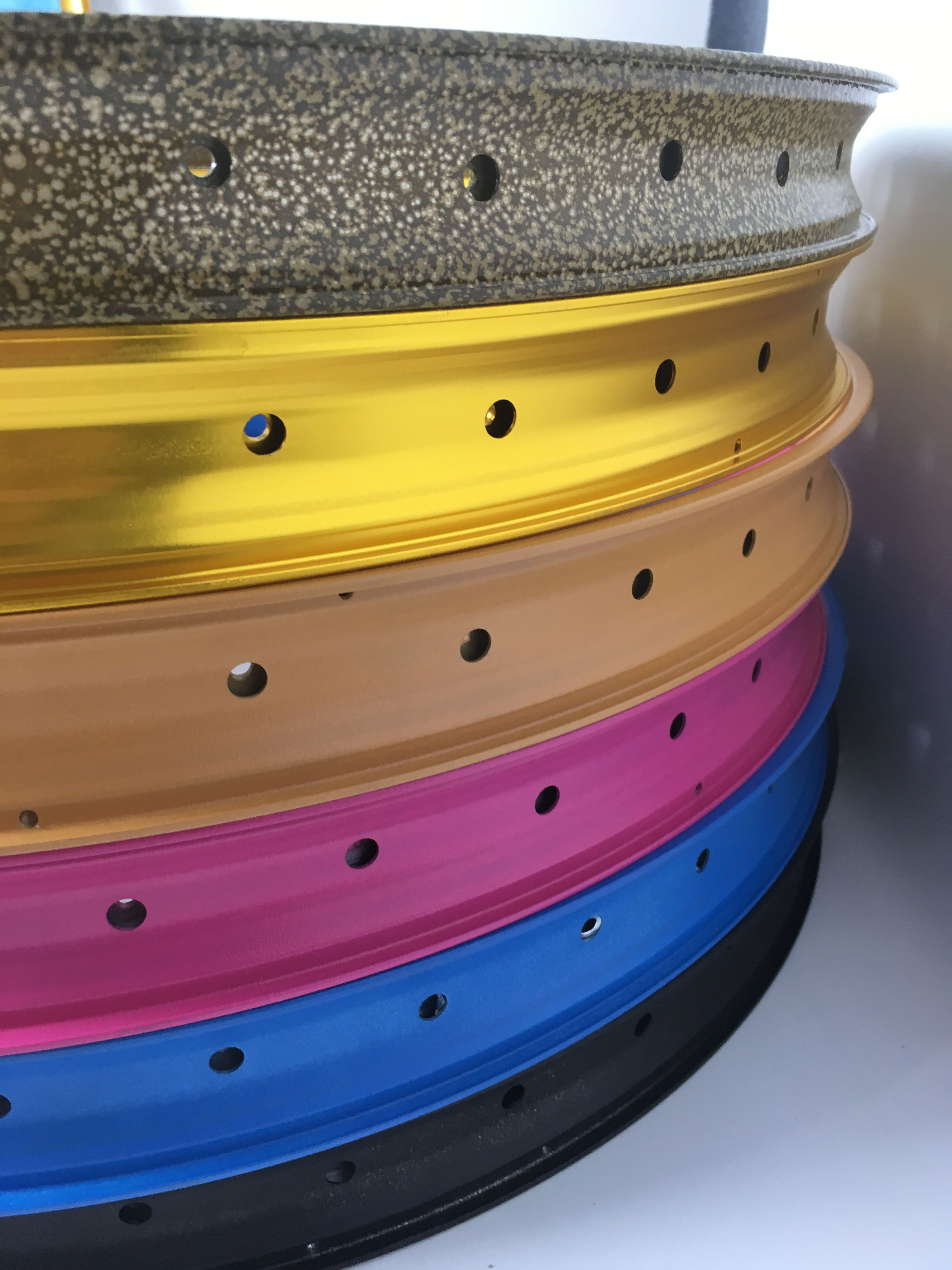 colorful mountain bike wheel rims